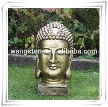 Bronze Statue Smile Sleeping Buddha Head Sculpture