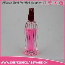 45ML perfume glass play girl bottle with aluminum spray