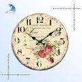 antique handmade tela impressão decorativos de parede relógio cuco de madeira