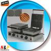 kitchen equipment EB-Q8-2 double waffle cone maker /Electric round Sandwich Machine