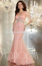 RED 44239 mermaid crystal beaded v neck sleeveless spaghetti strap evening dress 2014 online shopping