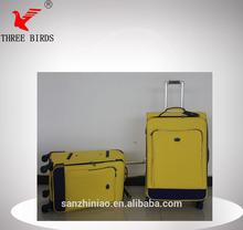 [Three Birds] Nice Universal wheel rolling trolley luggage, classic bag,yellow world luggage