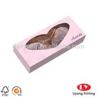 Pink Paper Gift Box for Bra / Underwear Packaging with Window in Storage