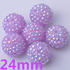 Fashion design beautiful children gifts,24MM Rhinestone resin beads for kids chunky necklace!!!