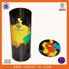 Manufacturer tall round tea metal case/custom tall round tea metal case