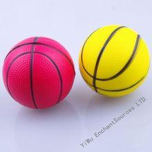 Beautiful color basketball pu stress ball
