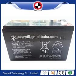 12V 7AH VRLA battery Valve regulated lead acid battery