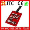 Oem jtc/odm tamaño estándar $0.01 de plástico duro/a granel pvc baratos de goma suave del pvc etiquetas de equipaje correa de lazo al por mayor de muestras gratuitas 8% off