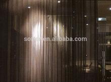 High quality bling decorative mesh/silver metal drapery