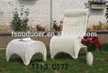modern pe rattan bahçe yemek seti şemsiye dış mobilya