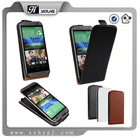Ultra thin Up-down Flip pu Leather Case Cover For HTC One