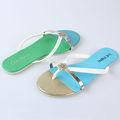 Cuciture moda colore capovolgere- flop Boemia strappy ciabatte infradito scarpe di plastica pvc