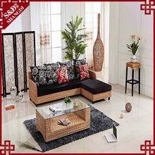 luxury rattan living room sofa furniture hand -wave sofa