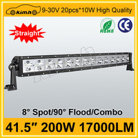 Car accessory 200W offroad led driving lights bar 12v