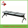 Chrome Metal Public Bench Seating shopping Waiting chairs