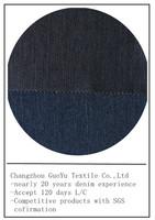 China textile indigo stretch leggings denim jeans fabric