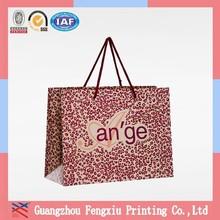 Pantone Color Printing Luxury Printed Pink Paper Shopping Bag