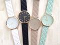colcha com pulseira de couro relógios para as mulheres