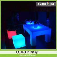 Led cocktail table led ice bucket storage stool flower display shelf light show case led chair/led