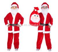 2014 Auen wholesale factory price Christmas clothing/Santa suit/ Christmas man suit