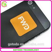 2015 microfiber self- adhesive sticker mobile screen cleaner