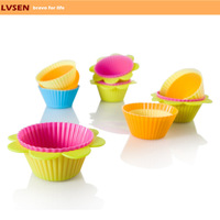 funny homemade colorful silicone cup cake mold