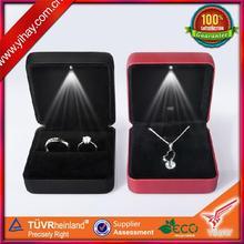 Custom make led light jewelry boxes for ring,necklace,earring,bracelet