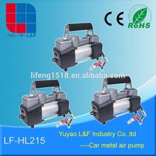 2*30mm cylinder high power portable car tire inflator electric metal portable air compressor pump LF-HL215