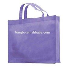 Purple Color No Printing Normal Shopping Plain Non-woven Bag Design