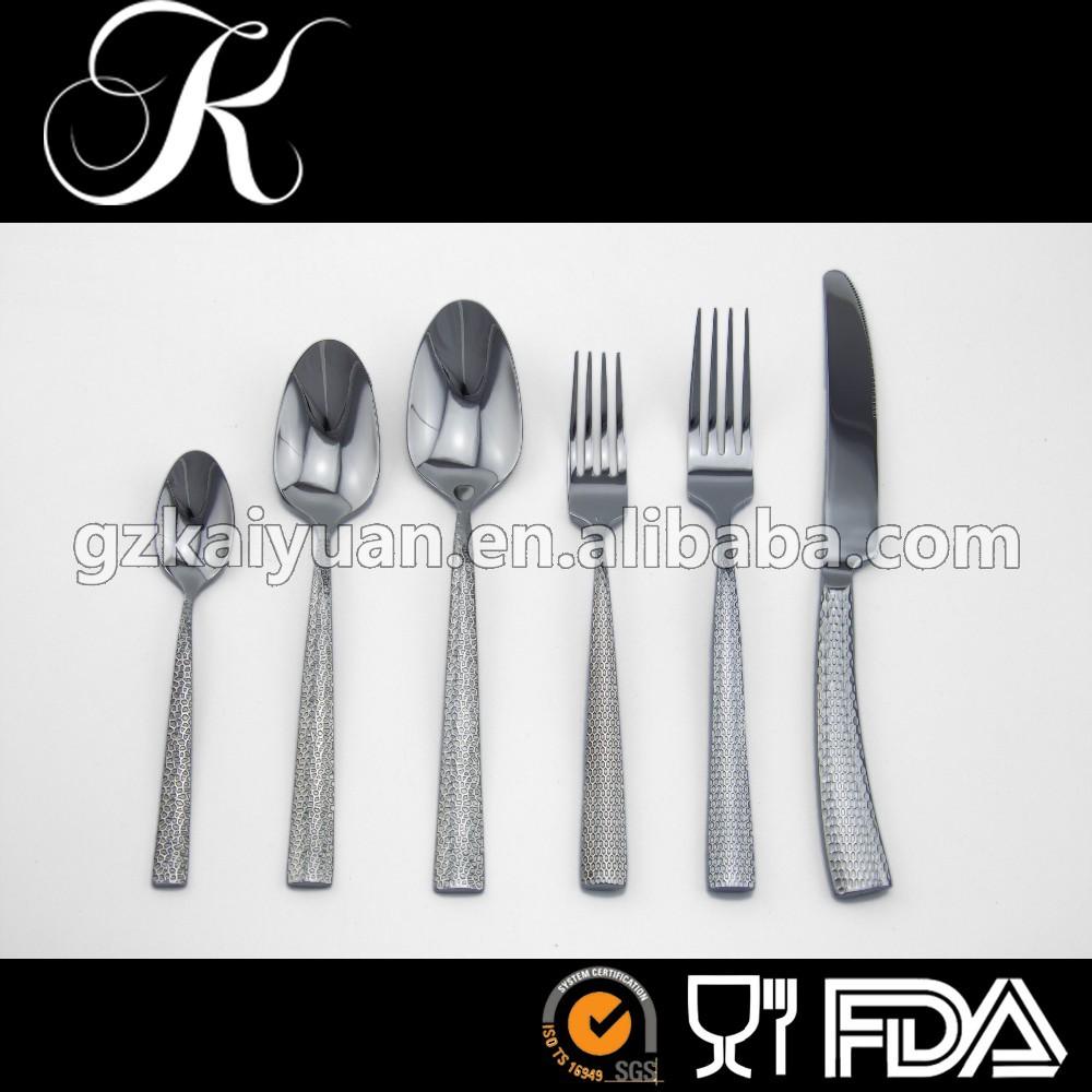 أنواع مختلفة من أطباق، الفولاذ المقاوم للصدأ أطباق مجموعات، والسكاكين