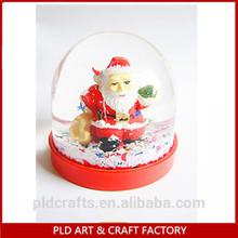 plastic christmas snow water globe