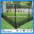 2014 fabricante profesional aeo aluminu recubierto de pvc ornamentales forjado/decorativos de hierro g/diseños para la cerca de acero