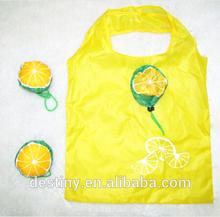 PROMOTIONAL cute unique lemon folding shopping fruit shaped bags