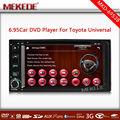 6.95 inç toyota evrensel dokunmatik ekran araç multimedya dvd oynatıcı gps navigasyon bluetooth ipod
