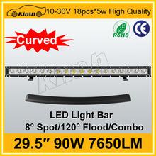 "Auto part 29.5"" 7650LM 90W led light bar 4wd light"
