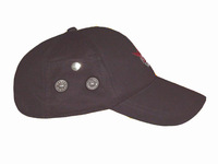 Cotton Functional Baseball Cap with Tiny Radio Receivers