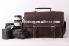 Vintage Style Genuine Leather DSLR Camera Bag