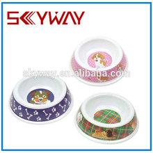 Fancy plastic pet bowl for dog