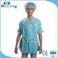 corto sleevesl bata de laboratorio en el hospital uniforme
