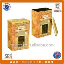 High quality coffee tin box /gift coffee tin box