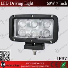 wholesale 7 Inch 60W Rectangle LED Driving Light,car led spot light 12v