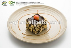 eco-friendly rice husks hot sales wholesale large round plate salad plate