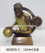 Hot selling basketball resin awards trophy