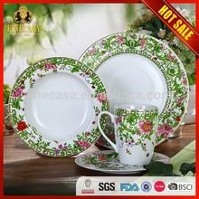 16 Pieces Elegance Fine Dinner Set Porcelain