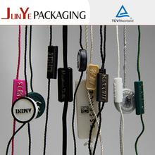 Factory price printing new garment hang seal tag name tag string