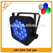 Good Quality and Cheap Quad Color 18*10w LED Flat Par