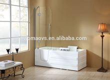 Q375 new design square acrylic corner bathtub drain parts