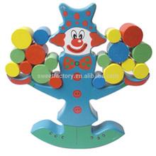 Funny DIY Wooden Clown Balance Building Blocks Toy,High Quality Education Wooden Balance Blocks For Kids
