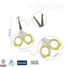 Small laser logo plastic handle safety professional baby nail scissors