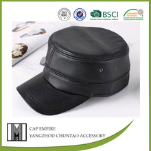 BSCI audit wholesale man leather military hat